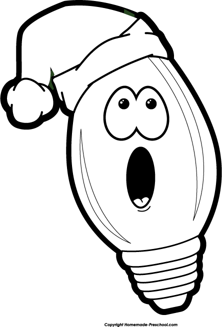 Christmas Lights Clipart Black And White | Clipart library - Free