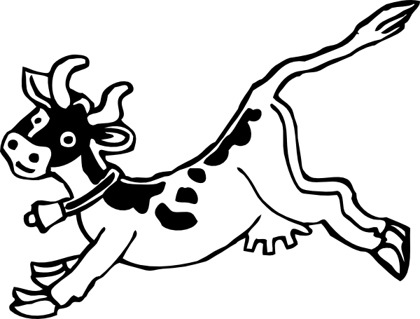 Jumping Cow clip art - vector clip art online, royalty free