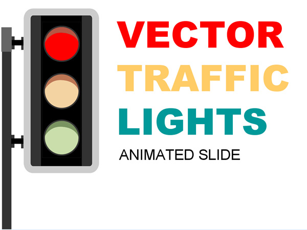 Traffic light cartoon style of Powerpoint the Templates, Download