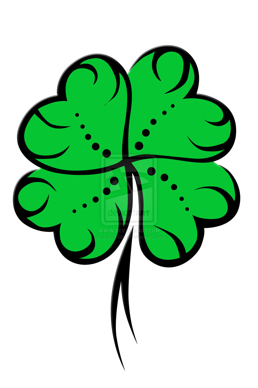 4 Leaf Clover 3-2 by aquachild on Clipart library