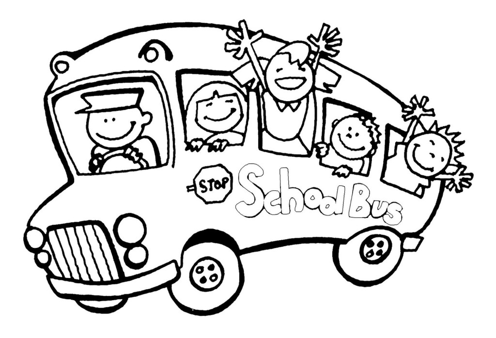 School Bus Driver Coloring Page