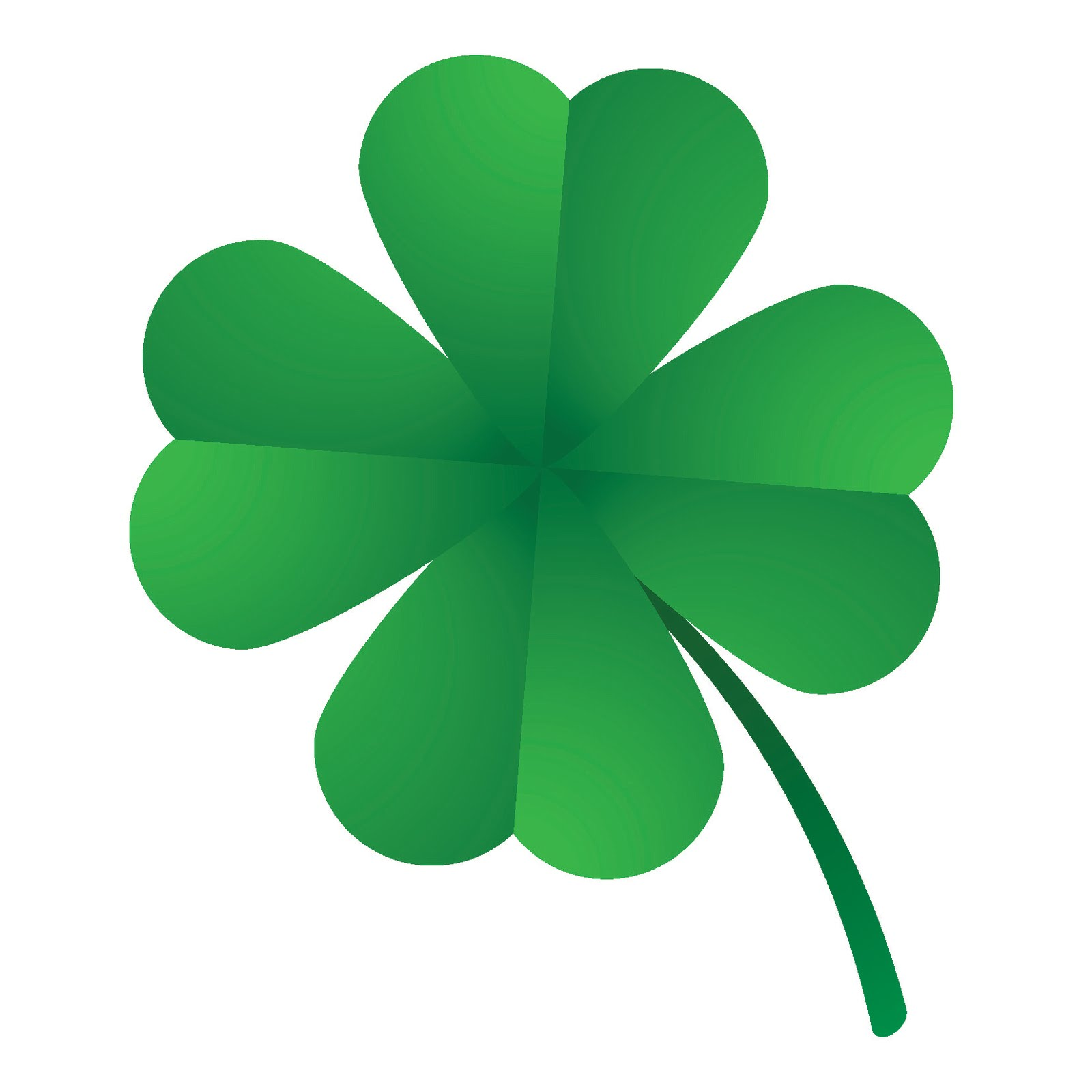 Picture Of A Four Leaf Clover - Clipart library
