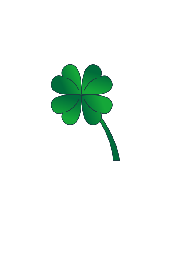 Four leaves clover Clipart, vector clip art online, royalty free