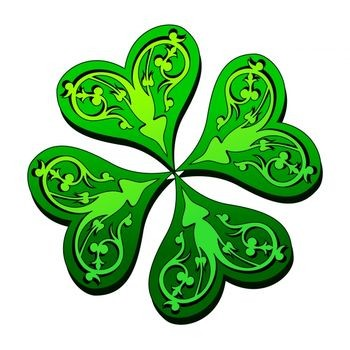 Four Leaf Clover Art - Clipart library
