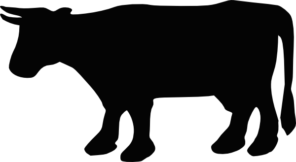 Black And White Animated Cows - Clipart library