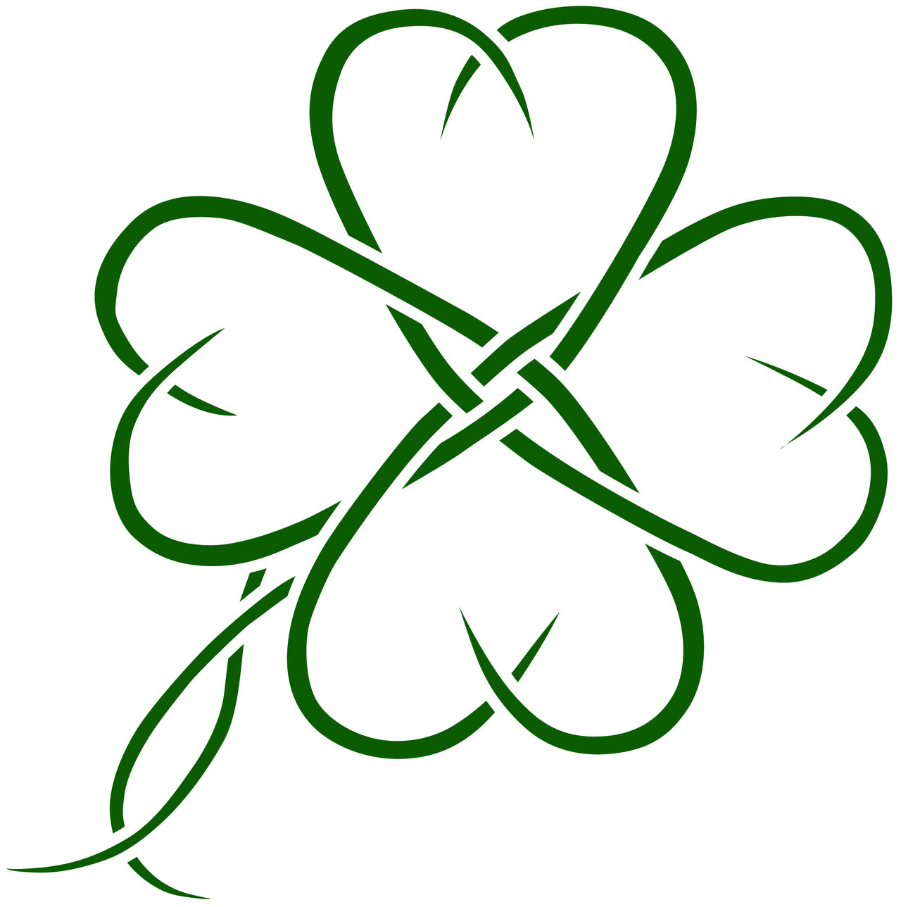 Four Leaf Clover Celtic Tattoo by AirNymphSS on Clipart library