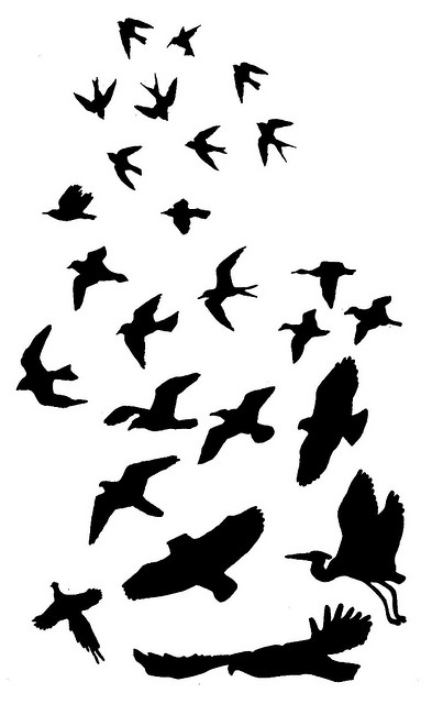 Flying Bird Silhouette Tattoo | Clipart library � Tattoo Designs