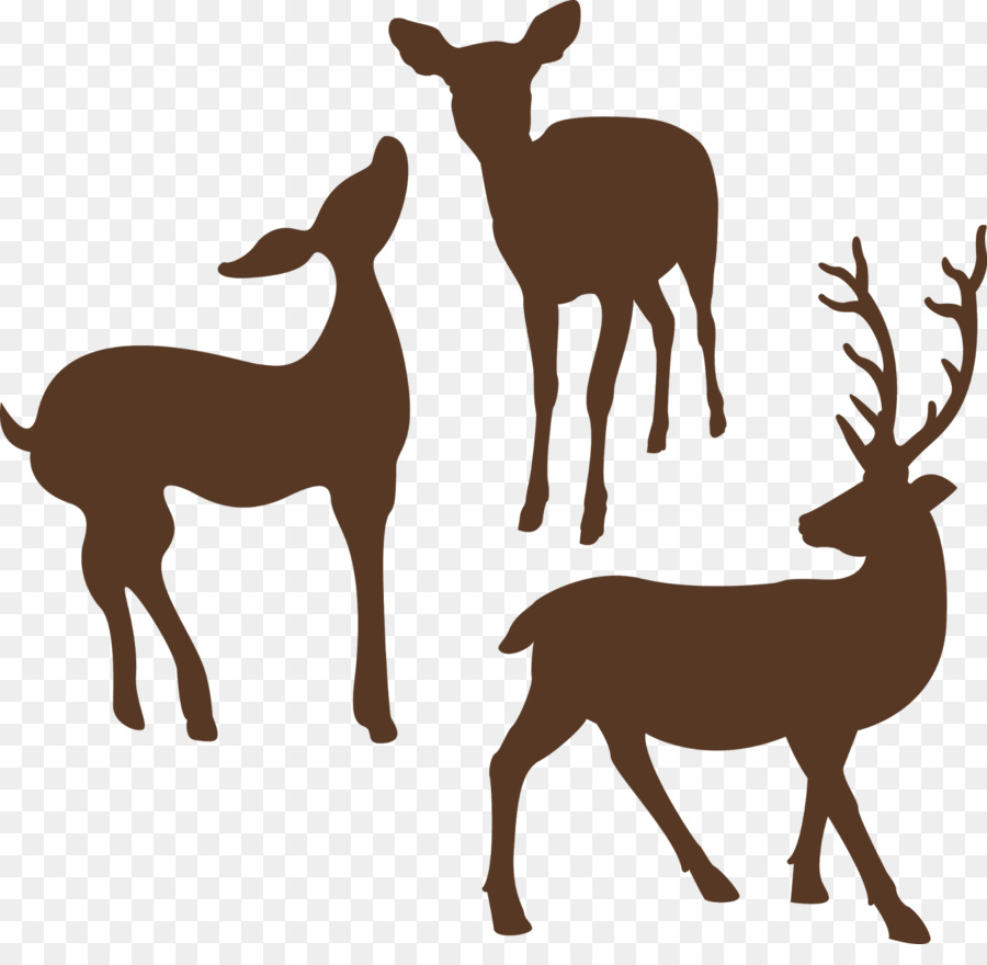 Deer Silhouette Clip art - animal silhouettes png download - 1600*1530 - Free Transparent Deer png Download.