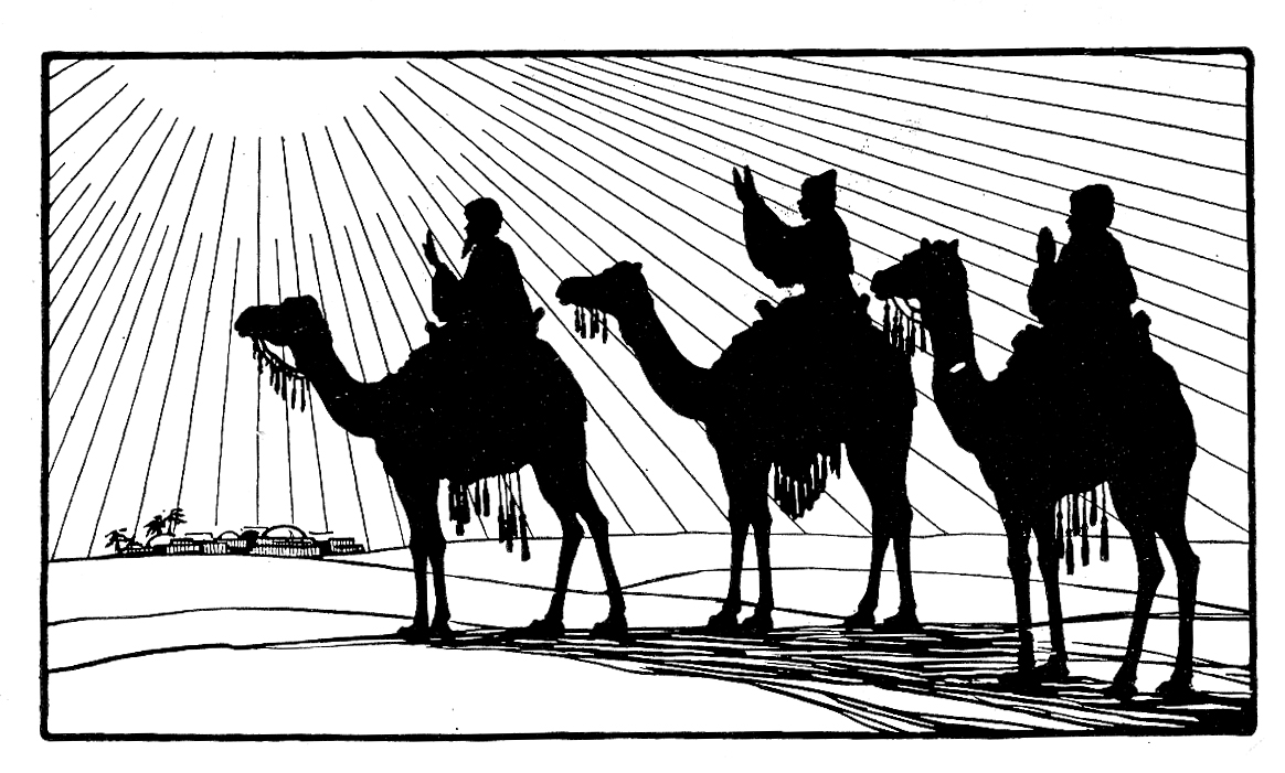 3 Wise Men Silhouette Clipart