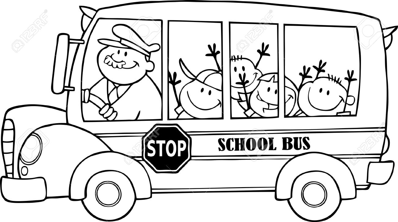 Black and white clipart of school