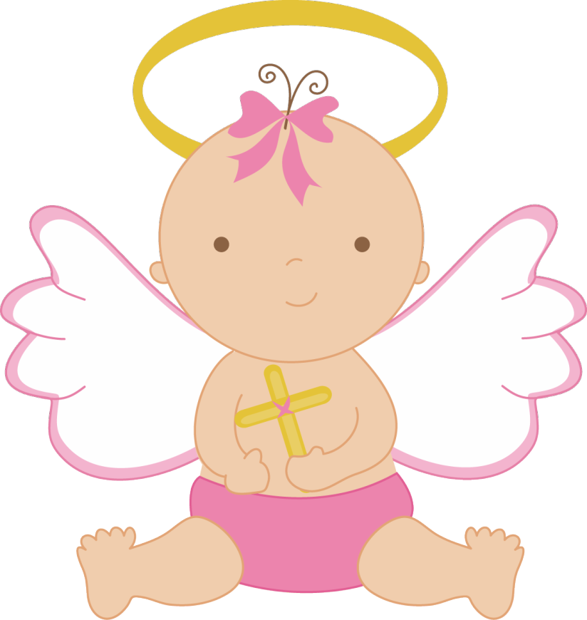 Pink angel clipart