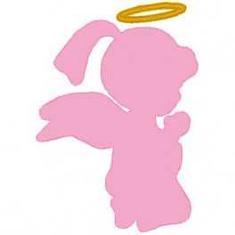 Little girl angel clipart