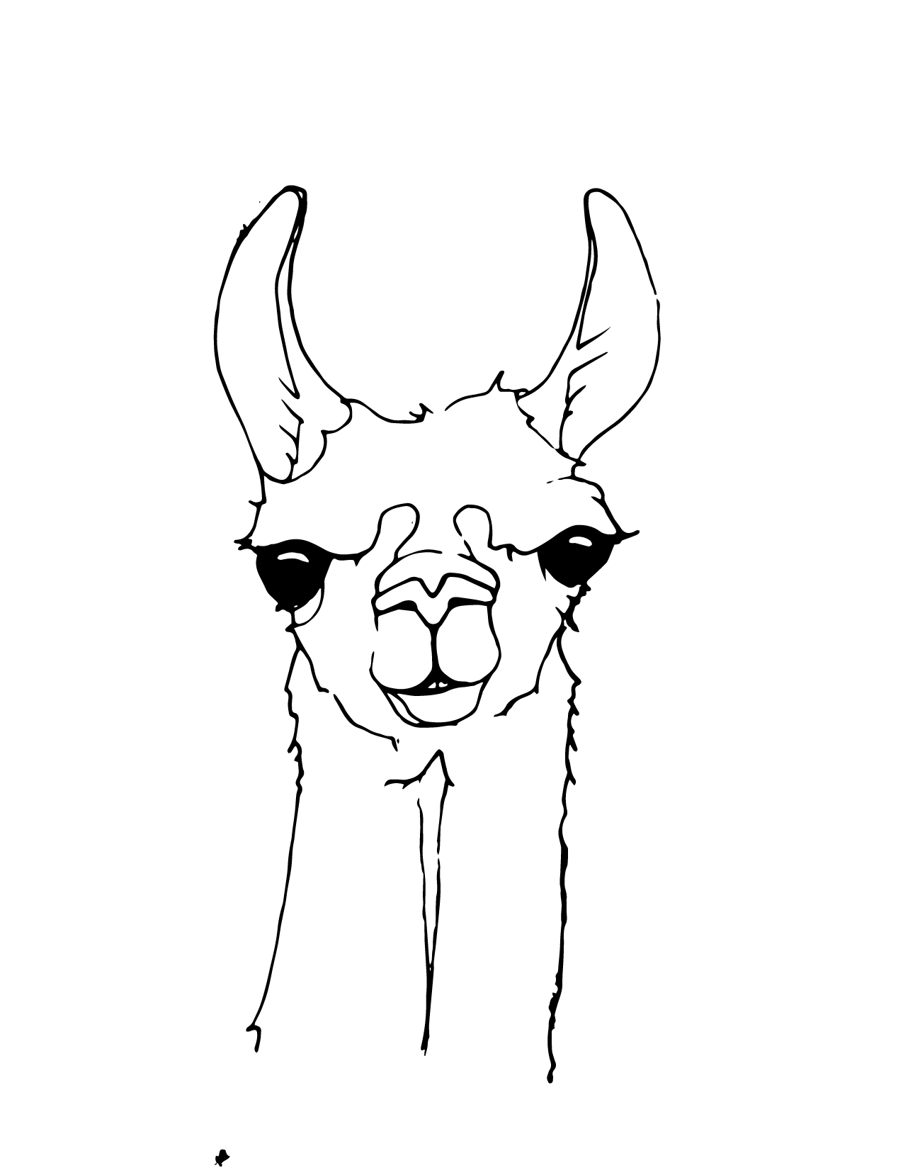 Llama Coloring coloring page, coloring image, clipart image