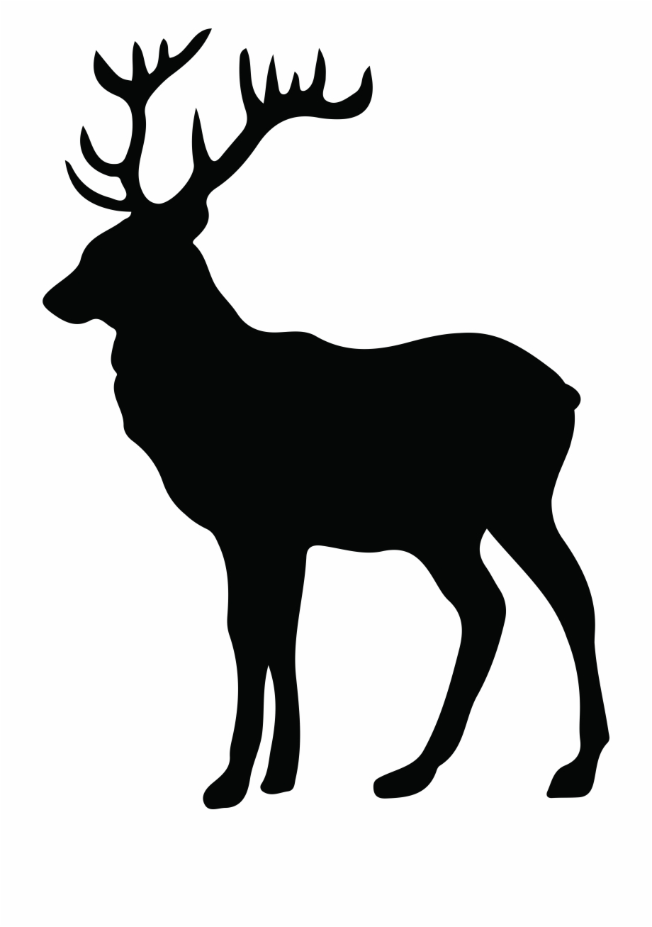 Vector Freeuse Antler Silhouette At Getdrawings Com White