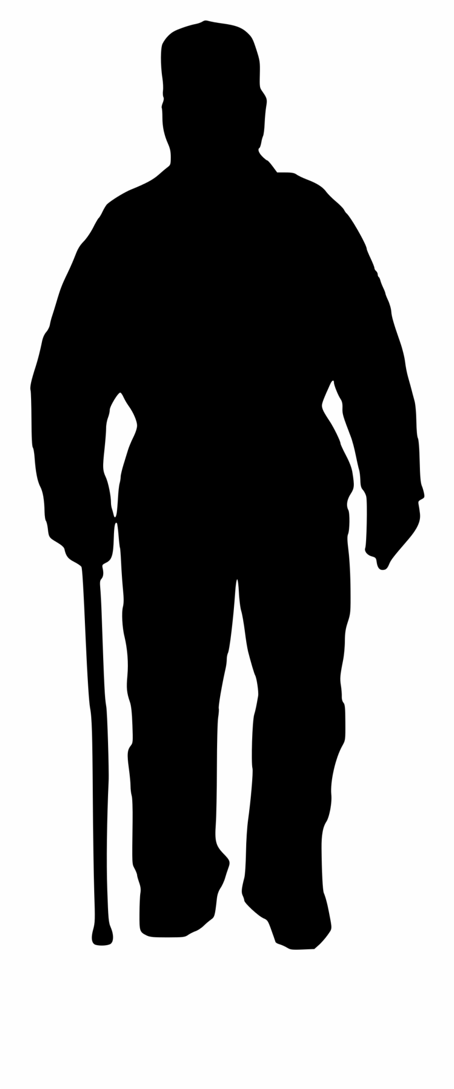 Download Clipart Silhouette Of Old Man