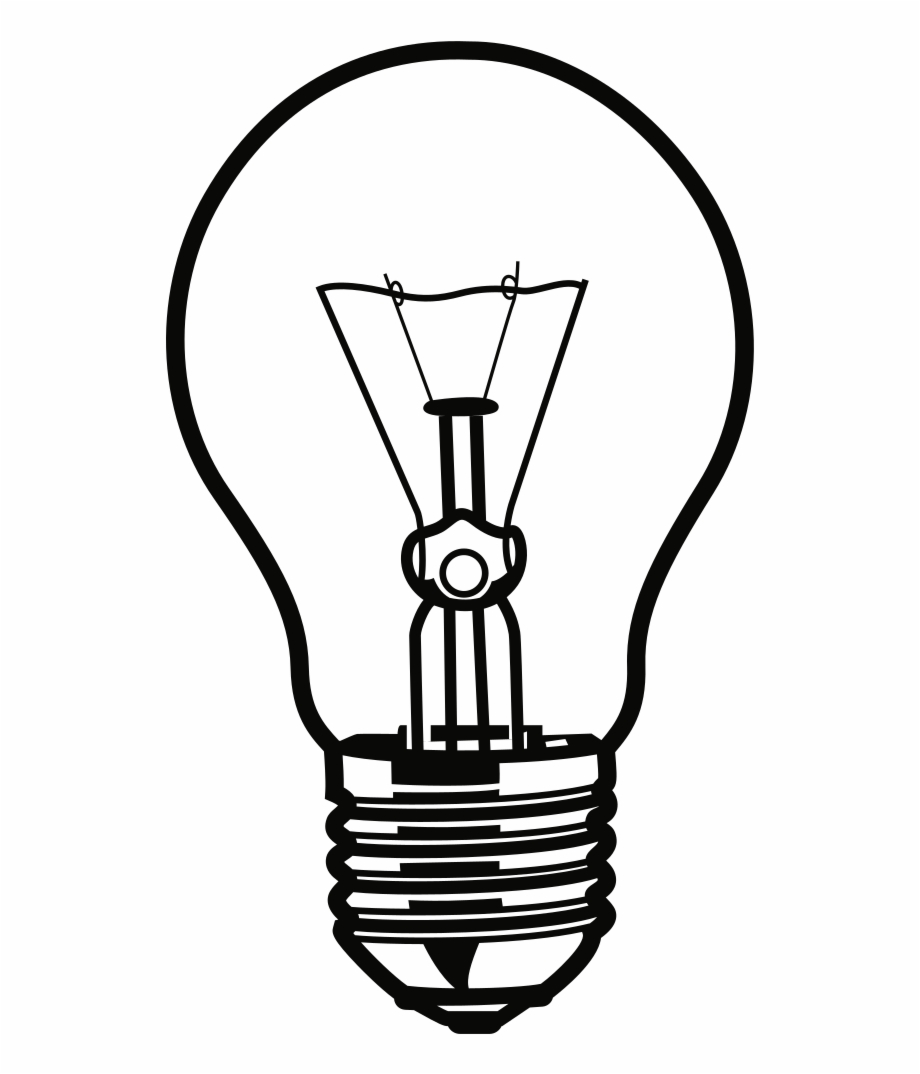 Onlinelabels Clip Art Bulb Clipart Black And White