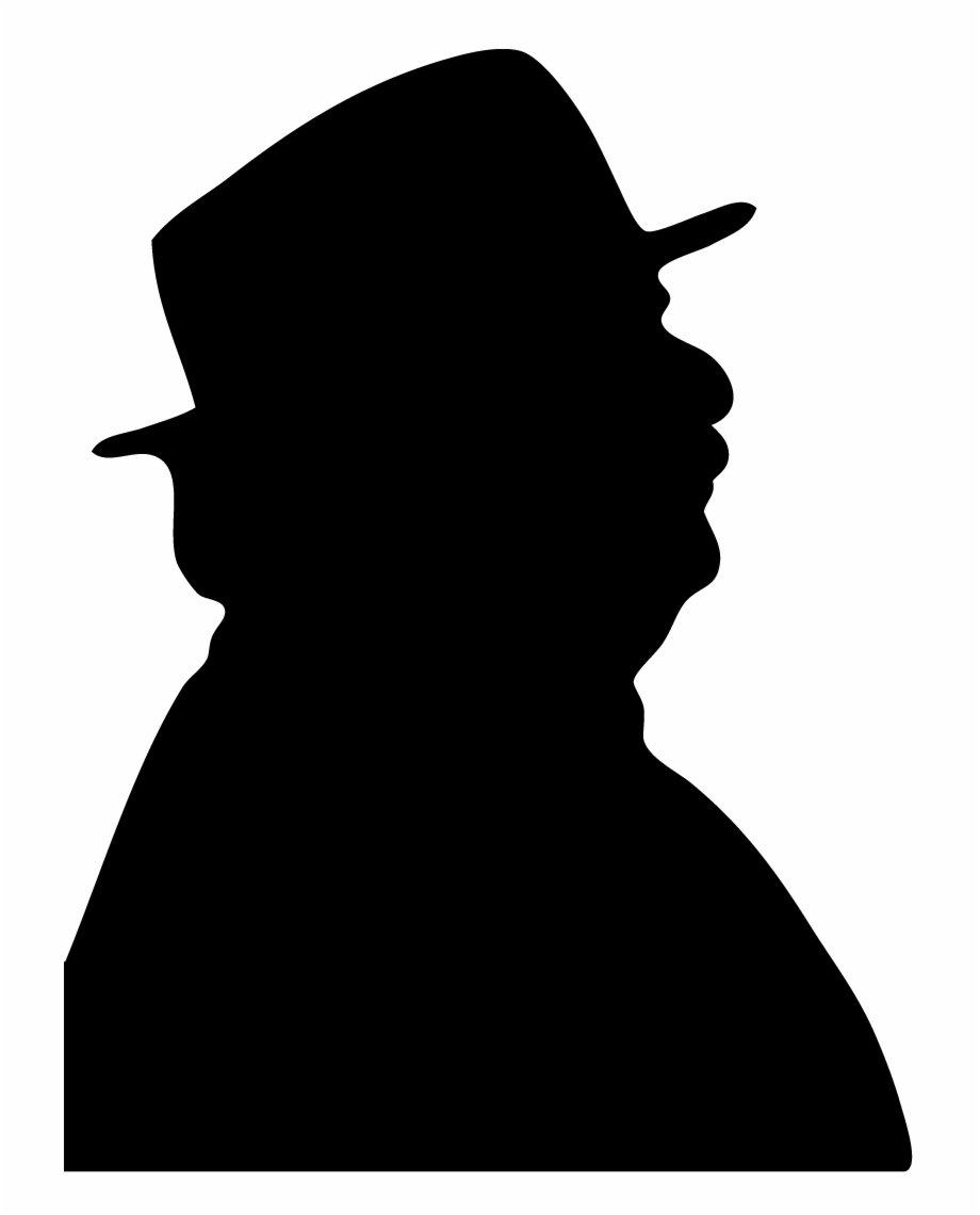 2013 Old Man Head Silhouette