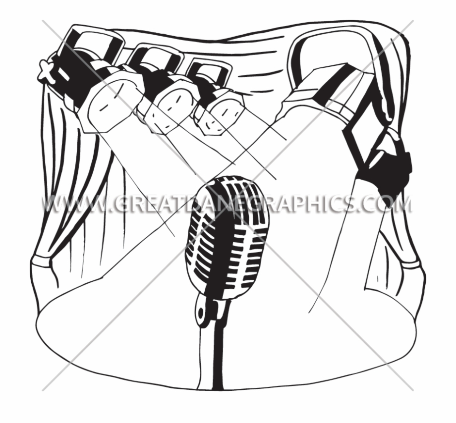 Picture Transparent Library Stage Lights Clipart Black Drawing